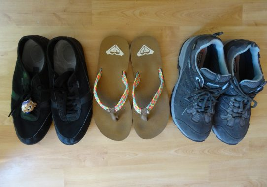 Sélection des chaussures...